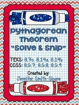 Eighth Grade Solve and Snips® Bundle - Interactive Math Word Problems