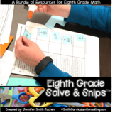 Eighth Grade Solve and Snips® Bundle - Interactive Math Wo