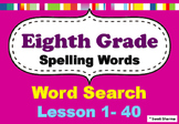 Eighth Grade Spelling Words Word Search