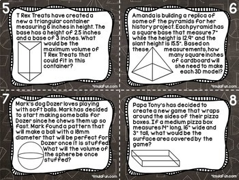 Eighth Grade Task Card Bundle of Resources for Interactive Learning