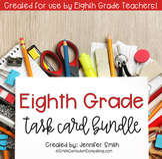 Eighth Grade Math Task Card Bundle