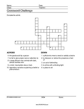 Eighth Grade Vocabulary Worksheets, 8th grade by ...