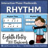Rhythm Flashcards {Eighth Notes} Interactive Rhythm Flash Cards
