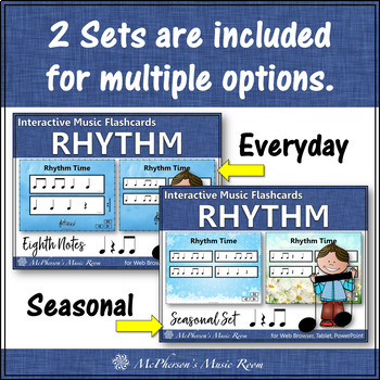 Rhythm Flashcards {Eighth Notes} Interactive Rhythm Flash Cards