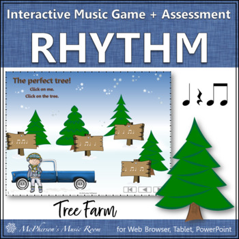 Christmas Music Game: Eighth Note Interactive Rhythm Game {Tree Farm}