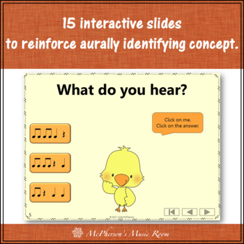 Eighth Notes Interactive Music Game {Dancing Chick}