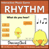 Spring Music Game: Eighth Notes Interactive Rhythm Game {Dancing Chick}