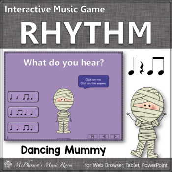 Eighth Notes Interactive Rhythm Game {Dancing Mummy}
