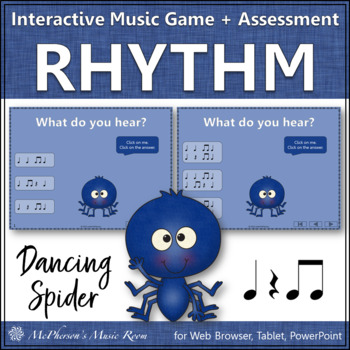 Eighth Notes & Rest - Dancing Spider {Interactive Music Game & Assessment}