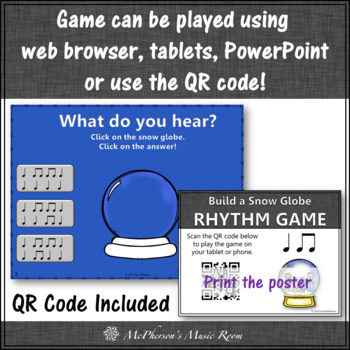Eighth and Quarter Interactive Rhythm Game & Assessment {Build a Snow Globe}