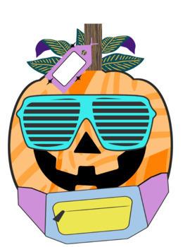Eighties Pumpkin Halloween Journal and Clip Art FREEBIE
