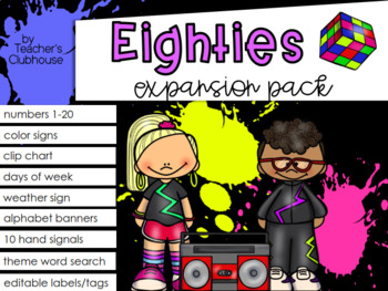 Eighties Theme Decor {Expansion Pack}