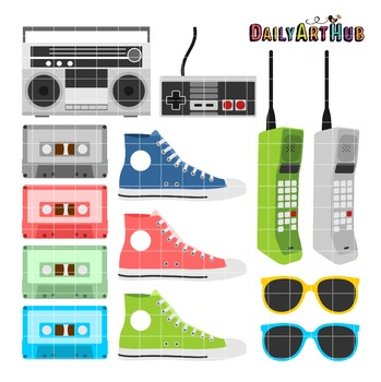 EightiesThings Clip Art - Great for Art Class Projects!