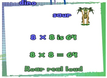 Eights Multiplication Facts - Music Video - Math Song