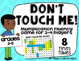 Eights Times Tables: Don't Touch Me! Multiplication Fact Fluency Game