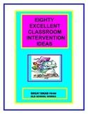 Classroom Intervention Ideas