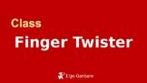 Eigo Ganbare Class Finger Twister