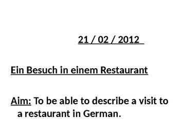 Ein Besuch in einem Restaurant / Visit to a restaurant / Essen und Trinken