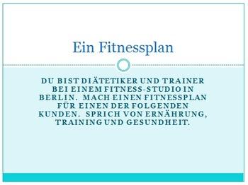 Ein Fitnessplan