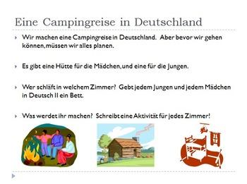 Eine Campingreise in Deutschland (Poss. Adj. Project)