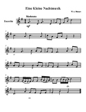 Eine Kleine Nachtmusik - Recorder Sheet Music