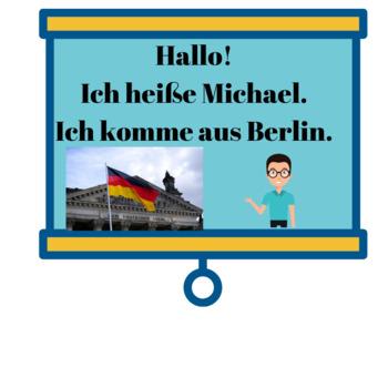 German for Beginners/Ich heiße.../Ich komme aus...