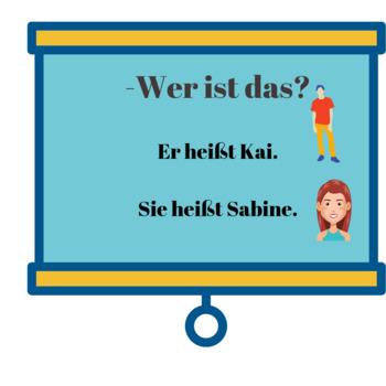 German for beginners/Wie heißt er/sie?/Wie heißen Sie/ Ask and tell names