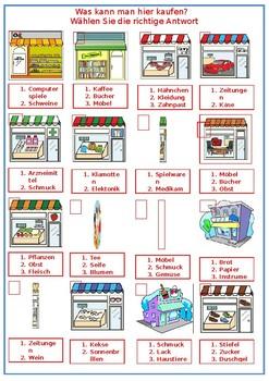Einkaufen / Shopping / Stores
