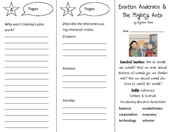 Einstein Anderson & The Mighty Ants Trifold - Open Court 3rd Gr Unit 4 Lesson 3