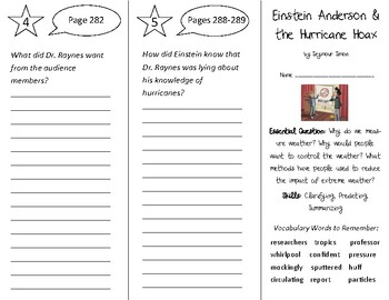 Einstein Anderson & the Hurricane Trifold - Open Court 3rd Grade Unit 2 Lesson 6