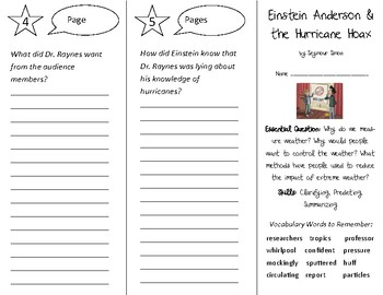 Einstein Anderson & the Hurricane Trifold - Open Court 3rd Grade Unit 2 Lesson 6