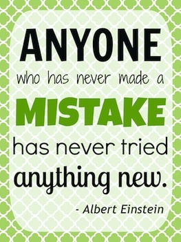 Einstein Mistake Quote Poster