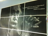 "Einstein Poster "" Imagination is more important than knowledge."""