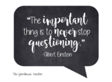 Einstein Quote Chalkboard Poster - FREEBIE