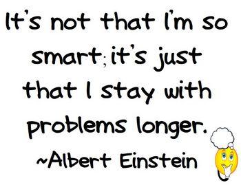 Einstein Quote on Working Hard