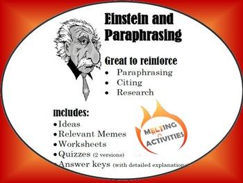Einstein Quotes and Paraphrasing