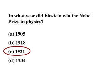 Einstein Trivia Game