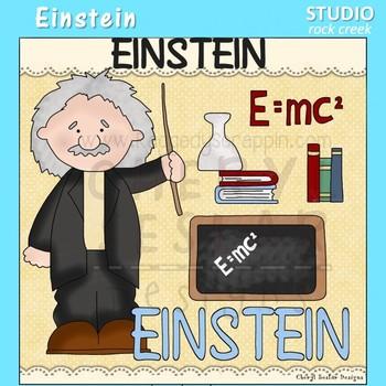Einstein  US History Science Color Clip Art  C. Seslar