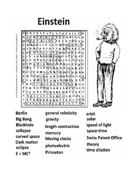 Einstein Wordsearch or Word Search