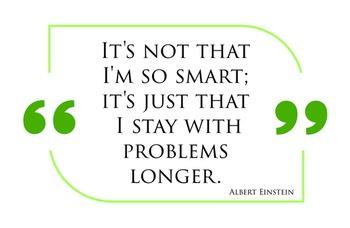Einstein's Quote - Math Poster