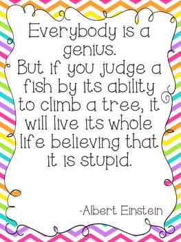 Einstein's Fish Quote Poster Version 2