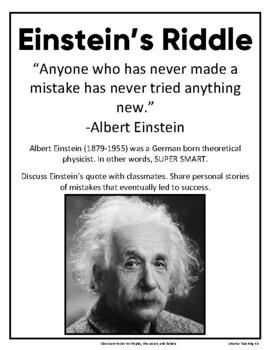 Einsteins Riddle Worksheets & Teaching Resources | TpT