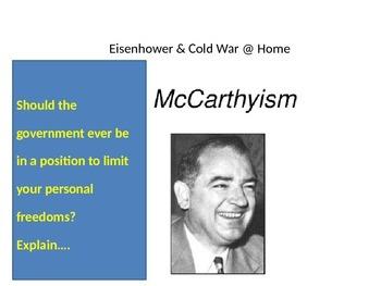 Eisenhower & Cold War 1950s McCarthyism