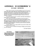 Eisenhower D-Day Speech DBQ w/ Rubric