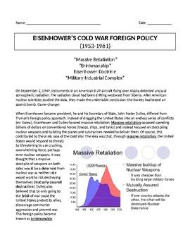 Eisenhower's Foreign Policy Military Industrial Complex