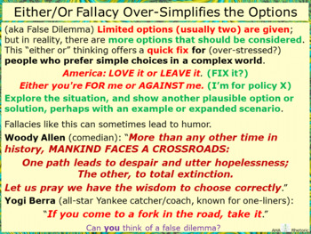 Either/Or Fallacy Over-Simplifies the Options: False Dilemma of Misdirection