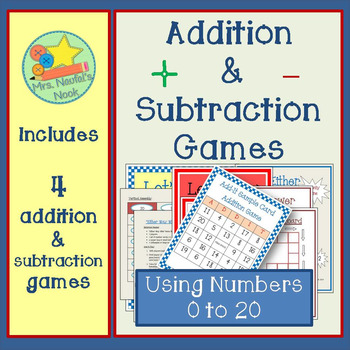 Addition and Subtraction Games - Two Digit
