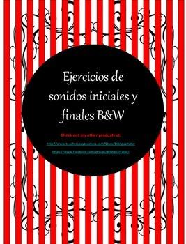 Spanish Ejercicios de sonidos iniciales y finales