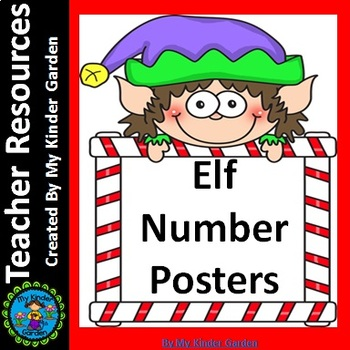 Elf Full Page Number Posters 0-100