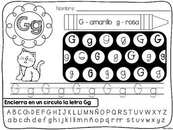 El ABC es divertido {Alphabet Practice Pages in Spanish}